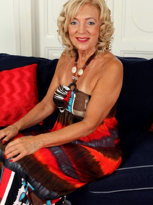 65 year old housewife Kamilla putting on a very hot disrobe show here