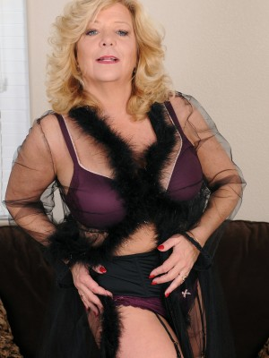 52 yr old Karen summertime from AllOver30 slides off the woman purple jeans