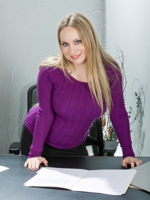 35 yr old assistant Aiden Starr will be taking off down in the office in office