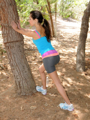 Perverted hotty Bella G jogs and unwraps within the woodlands