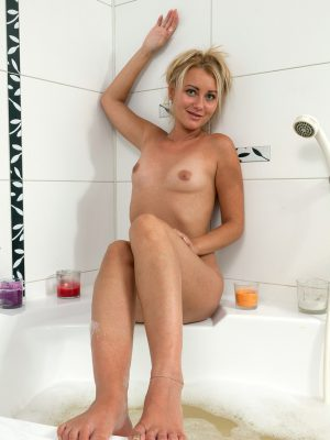 Getting wet within the tub with Nancy Acty