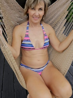 Lillian Tesh in a hammock