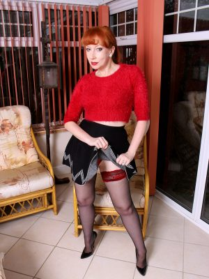 Older MILF Red shows the woman stuff