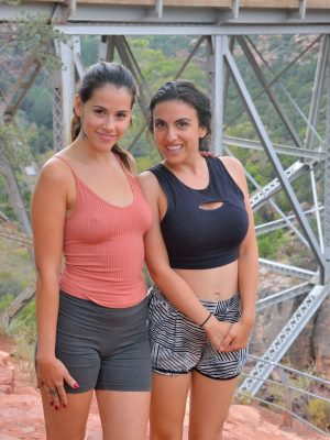 Two women go hiking and acquire nude