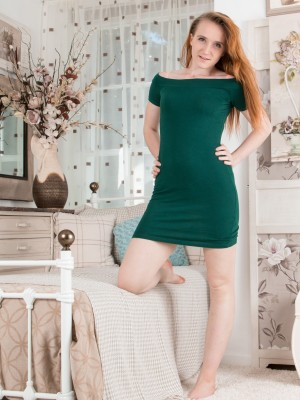 Sabrina Jay unclothes in her bedroom to have revealed
