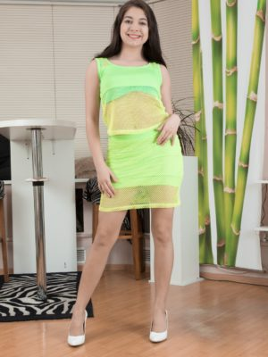 Bellavitana pieces down yellowish dress and underware