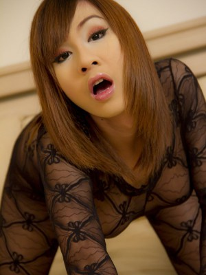 yummy-asian-ladyboy-in-full-body-suit-lingerie-toys-her-ass-2