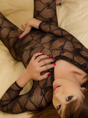 yummy-asian-ladyboy-in-full-body-suit-lingerie-toys-her-ass-3