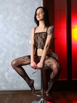 In black-colored underclothes together hairy love tunnel subjected, Vikki is a sincere treat