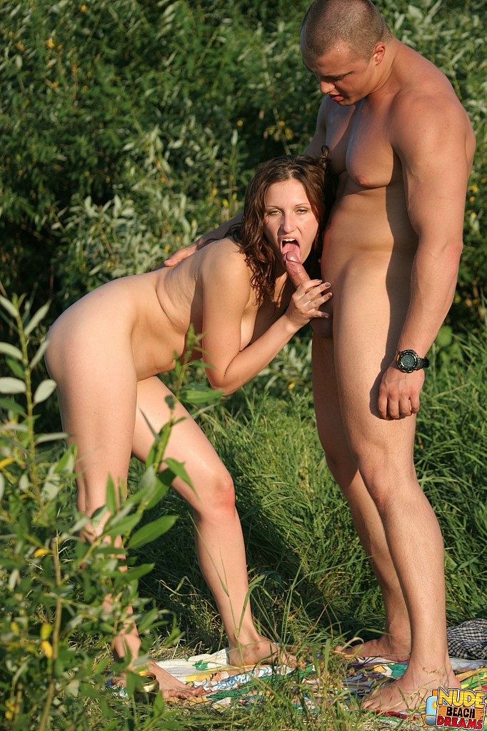 Sucking my husbands dick in public