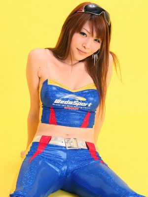 Buxom is hot cupcake in blue exudate outfit