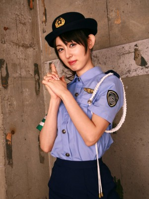 Rina Akiyama Oriental in authorities girl uniform discloses wonderful gams