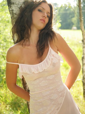 Check out this hot bare brunette hair