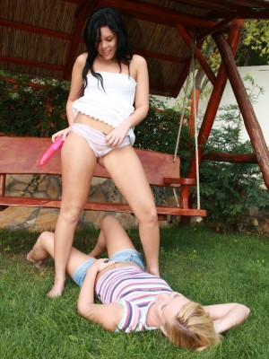 cute-lesbians-fucking-dildos-and-licking-pussy-outdoors-6