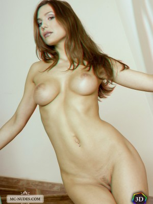 ideal formed titties and pleasing face completely 3D.
